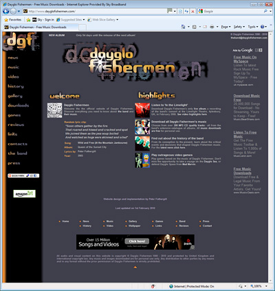 Dayglo Fishermen Homepage, August 2008 - February 2010