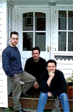 Peter Fothergill, Sean Wills and Richard Burton - chilling outside the Cozmic Studios Facility