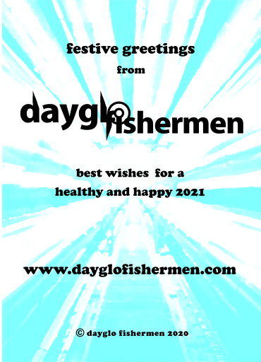 Dayglo Fishermen Christmas Card - Inside Greeting -2020